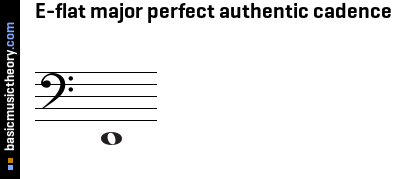 E-flat major perfect authentic cadence
